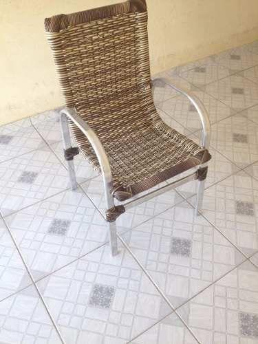 Cadeira/ Poltrona De Alumínio Em Fibra De Junco - R$ 279,99