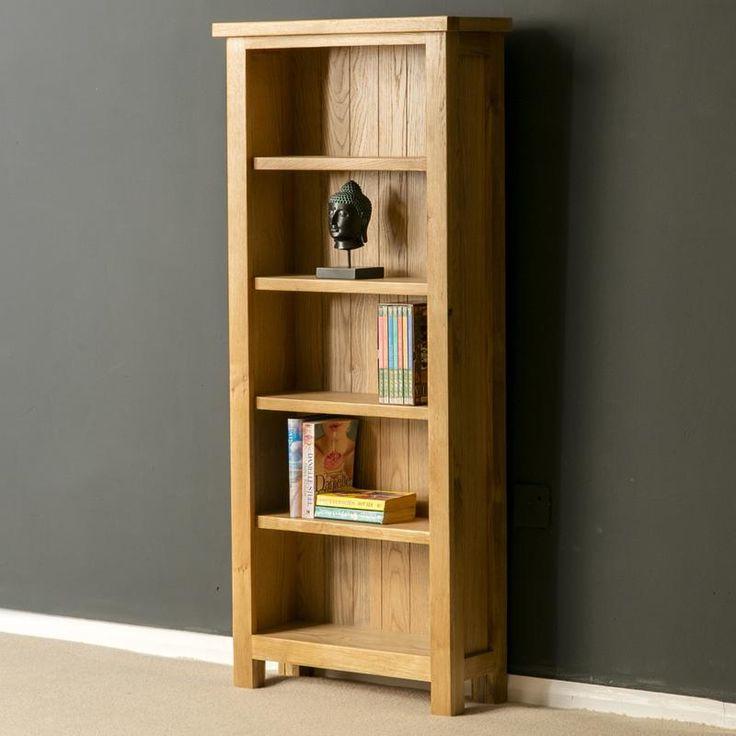 London Oak Slim Bookcase