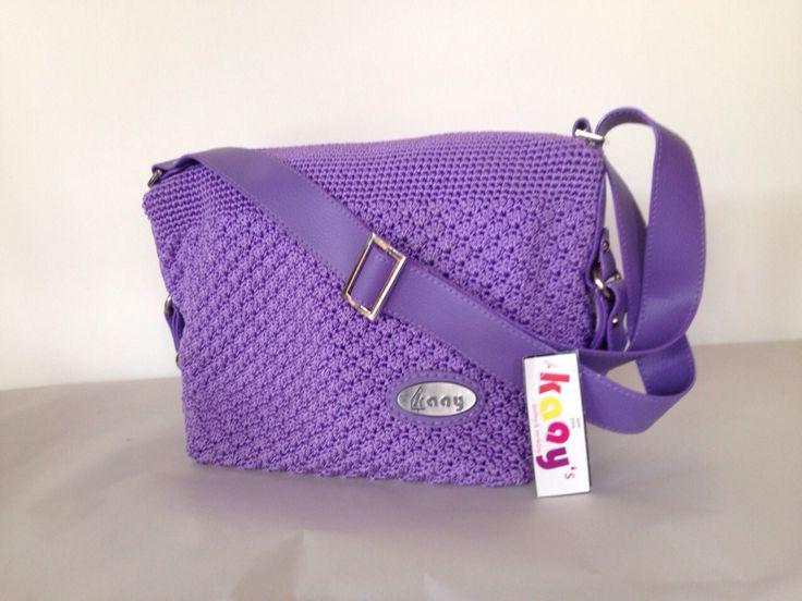 Felly Lavender // Ukuran: 30x24x14cm // IDR: Rp 260.000  #katalog #tasrajut