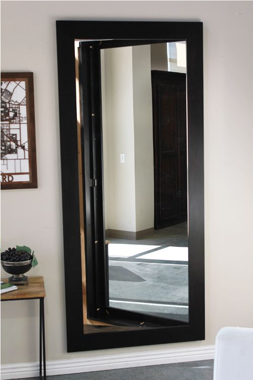 Mirror door inswing house ideas hidden rooms secret - Bathroom mirror with hidden storage ...