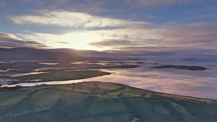 Clew Bay at dusk #DJI #drone #ireland
