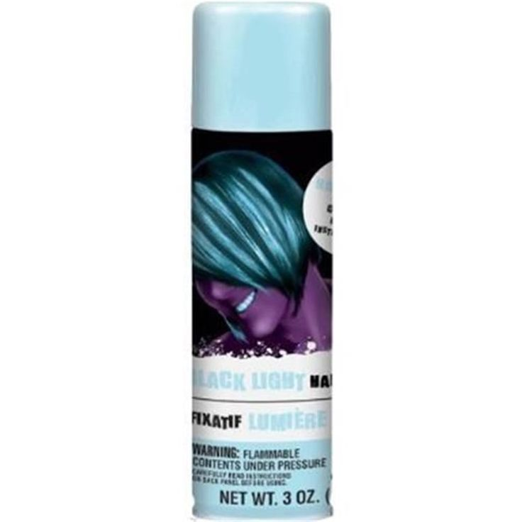 Black Light Hairspray   3oz. We got some of this too