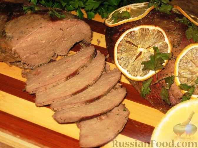 Фото к рецепту: Запеченная свиная печень по-словенски