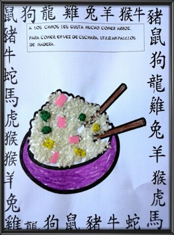 REME BAYARRI . PROYECTO CHINA . COLLAGE ARROZ TRES DELICIAS.