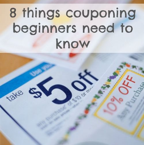 8 things you need to know if you're just starting to coupon