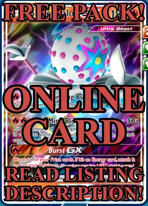 Pok Mon Trading Card Game 183466 Blacephalon Gx Free Pack