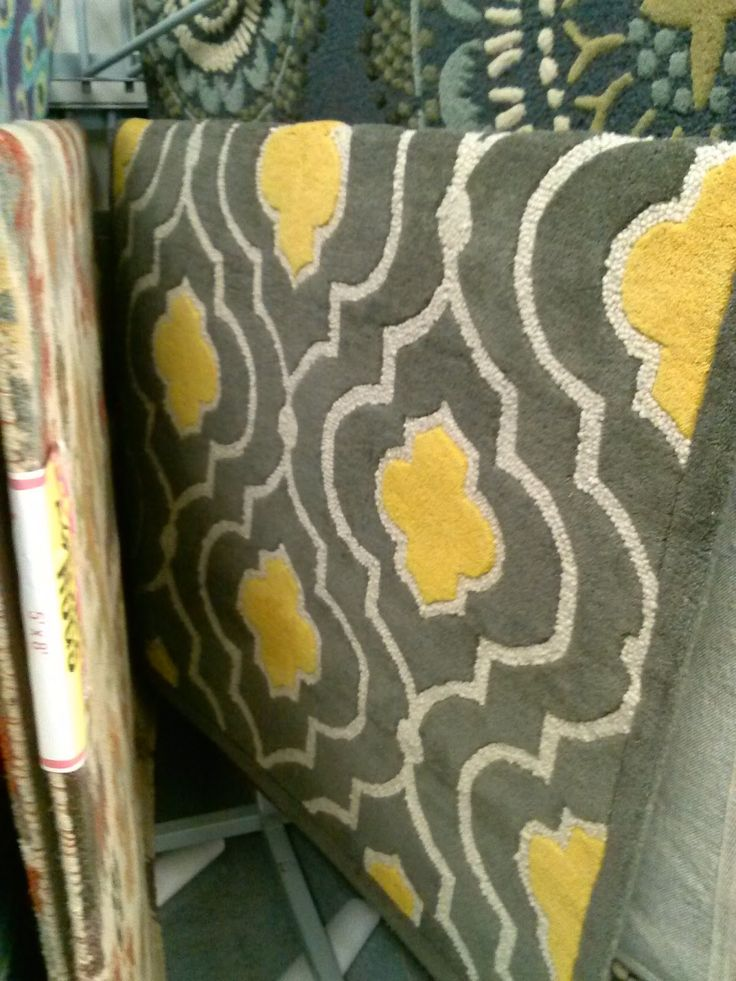 Yellow And Gray Rug