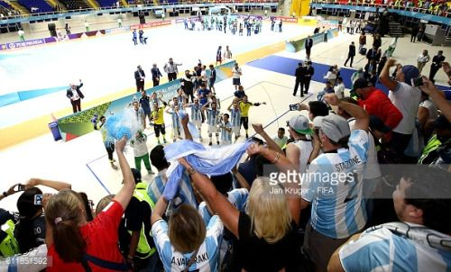 CALI, COLOMBIA - OCTOBER 01: Argentina players celebrate victory... #liptovskyjan: CALI, COLOMBIA - OCTOBER 01: Argentina… #liptovskyjan