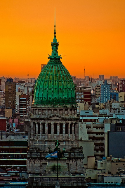 Dome of Congress from the Barolo Palace, Buenos Aires, Argentina