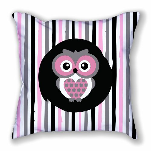 Owl and Stripes Pillow