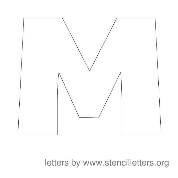 Printable Stencil Letters 6 Inch Printable Alphabet
