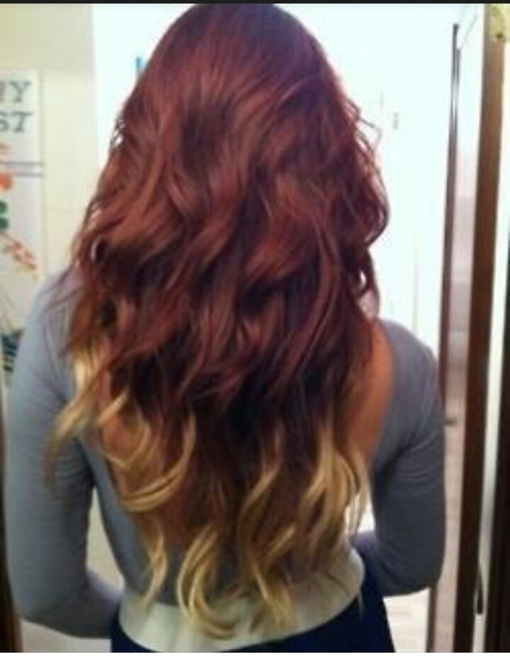 Red Asian hair with blonde ombre... | Dyeing for color ...