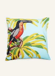 Scatter Cushion: Embroidered Toucan Bird