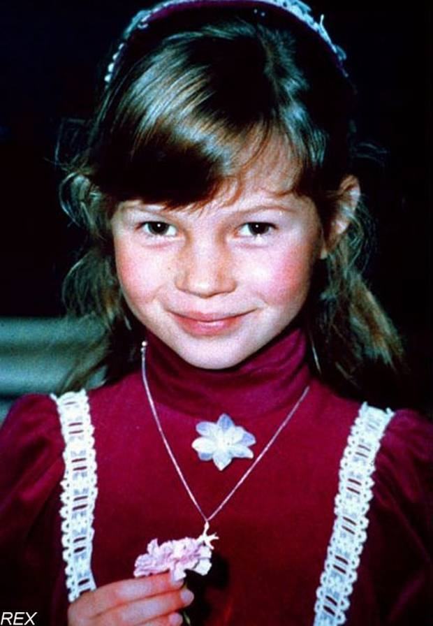 Kate Moss as a little girl in the seventies