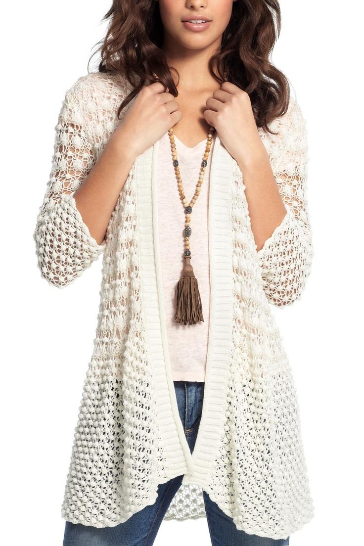Scout Popcorn Stitch Crochet Sweater