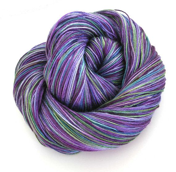 Hand Dyed Bamboo Yarn Purple Ivy by FiberFusion on Etsy