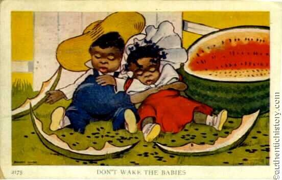 Watermelon: Symbolizing the Supposed Simplicity of Slaves - Sociological Images