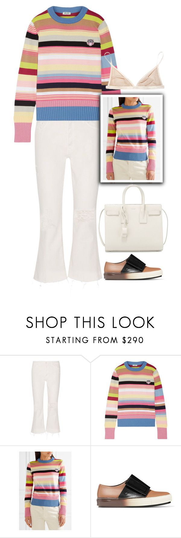 """1252"" by melanie-avni ❤ liked on Polyvore featuring Mother, Kenzo, Marni and Yves Saint Laurent"