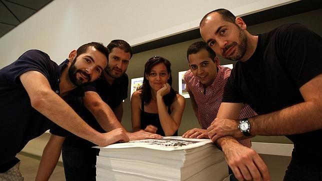 Juan Carlos Martínez, Miguel Ángel Tornero, Rosalía Banet, Daniel Silvo y Germán Gómez para el proyecto ABC Cultural 2011