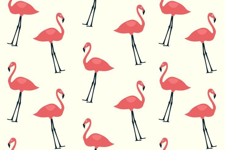 Free Flamingo Bird Seamless Pattern Preview
