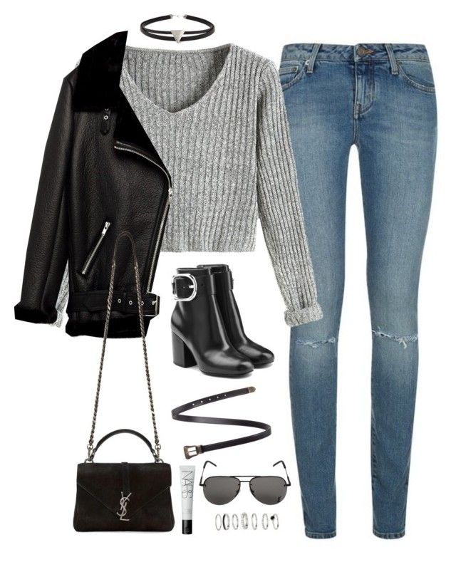 Sem título #4968 by fashionnfacts on Polyvore featuring polyvore, fashion, style, Jakke, Yves Saint Laurent, Alexander Wang, Forever 21, NARS Cosmetics and clothing