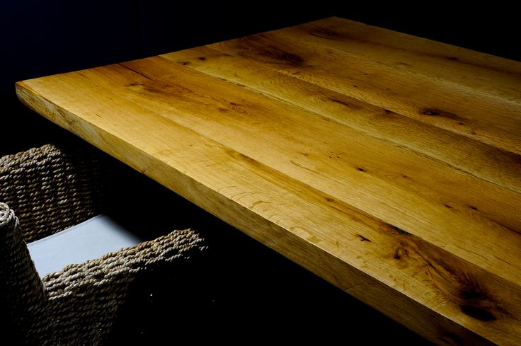Contemporary solid oak desk hand made