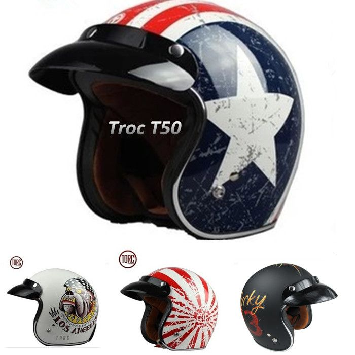 free shipping TORC HELMET moto casco capacete 3/4 open face vintage motorcycle helmet jet scooter motocross helmets DOT M ~ XXL-in Helmets from Automobiles & Motorcycles on Aliexpress.com | Alibaba Group