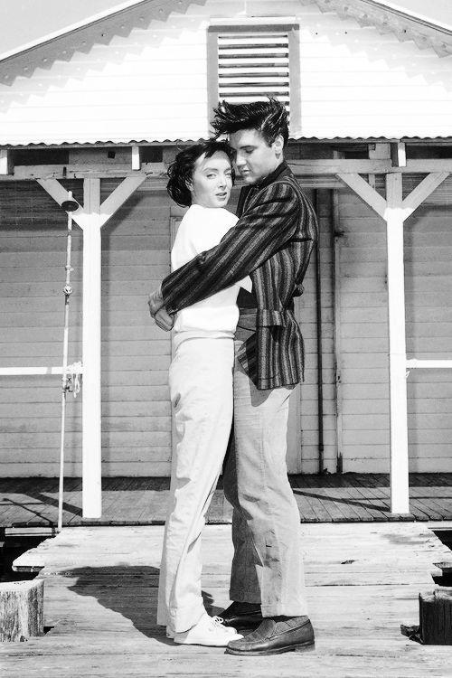 "Carolyn Jones and Elvis in ""King Creole"" -"