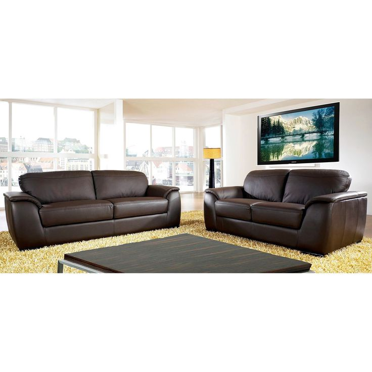 Ideal For The Den, Office Or Living Room, This Loveseat And Sofa Combo Will