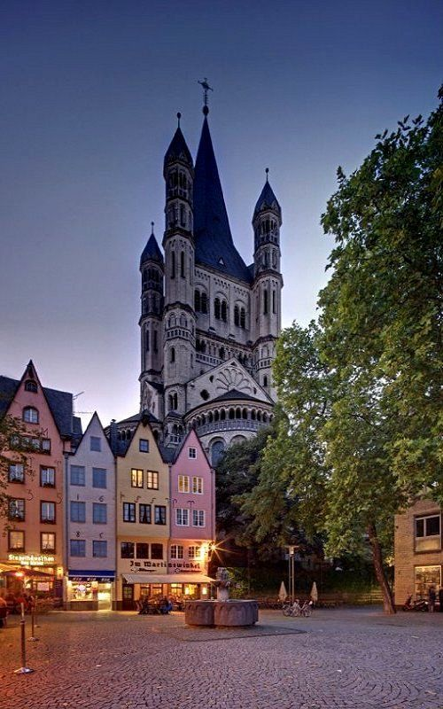 Fischmarkt and Gross St Martin Church - Cologne, Germany   by Sadegh Miri
