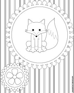 coloring pages with foxes | Here are a pair of coloring pages, click on the images for bigger ...