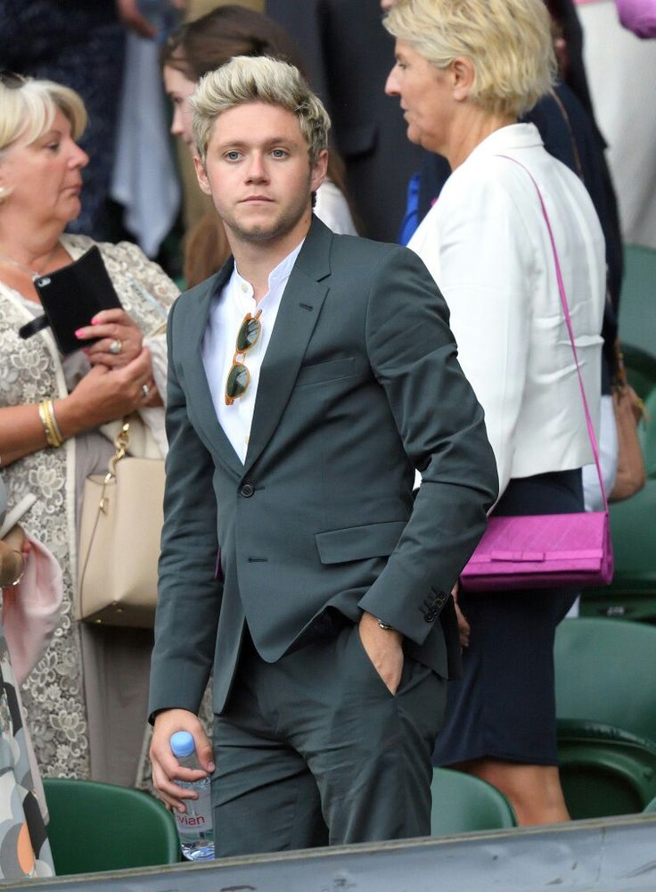 Niall at Wimbledon. We all know he only wore the suit because it makes his ass look fantastic.