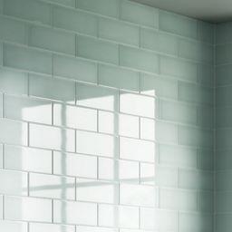 Wickes Soho Green Ceramic Tile 300 x 100mm   Wickes.co.uk