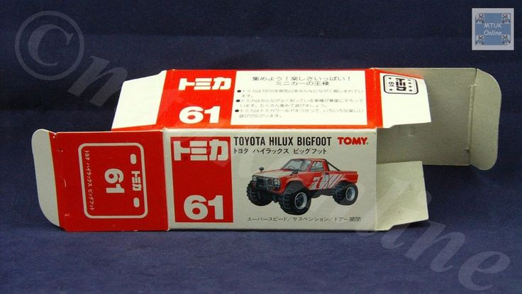 TOMICA 061D TOYOTA HILUX BIGFOOT   1/62   ORIGINAL BOX ONLY   ST5 1995 CHINA