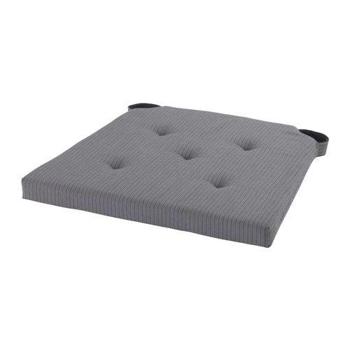 JUSTINA Chair pad gray 1417x16x2