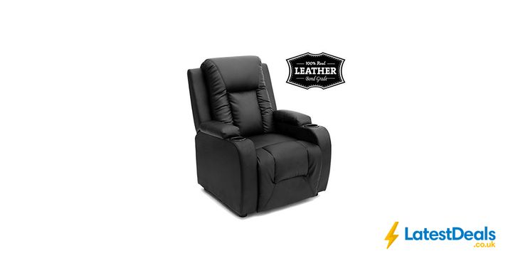 OSCAR LEATHER RECLINER with DRINK HOLDERS *HALF PRICE*, £164.99 at Amazon