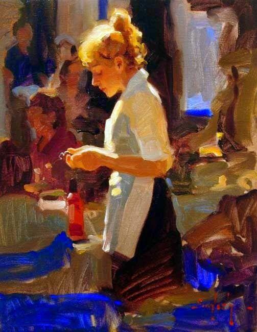"huariqueje: "" Fantine - Kim English American b.1957- Oil on canvas, """