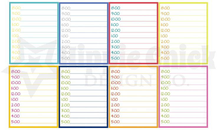 Timed M/D/N Boxes | Set of 16 | Erin Condren Life Planners, Planning, Calendars