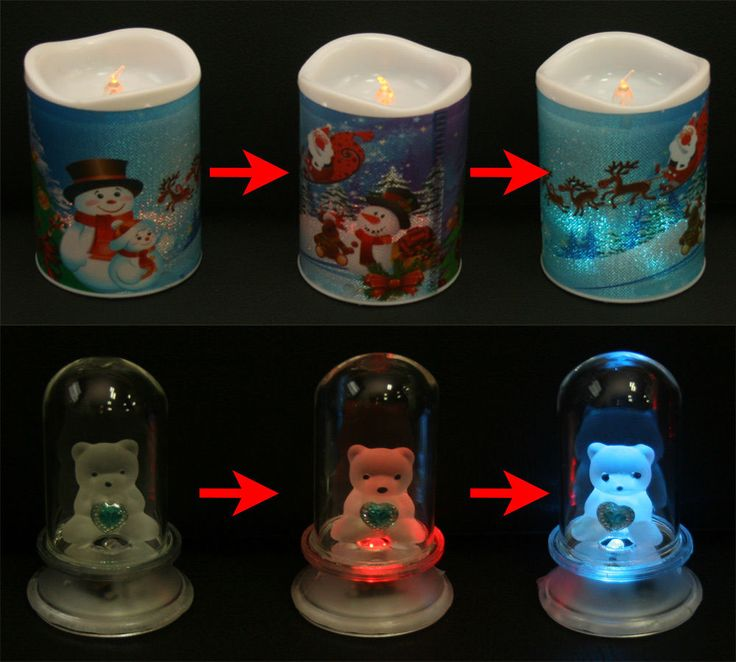 Home Decoration LED light Bear 3 & Candle 4 Mood lamps in  various color / 1 Set #Unbranded