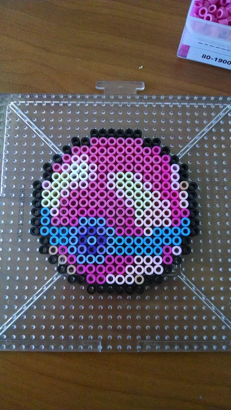 Heal Ball - Pokemon perler beads