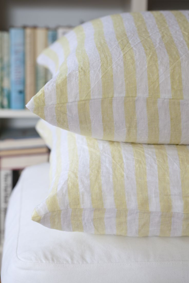 Cushion cover - mustard yellow.  100% organic. soysol.com
