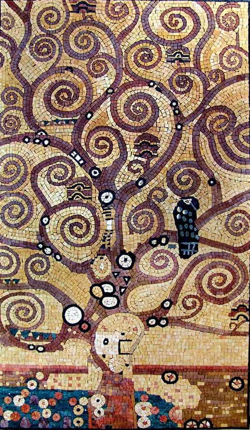 Beautiful Mosaic of a Klimt painting.