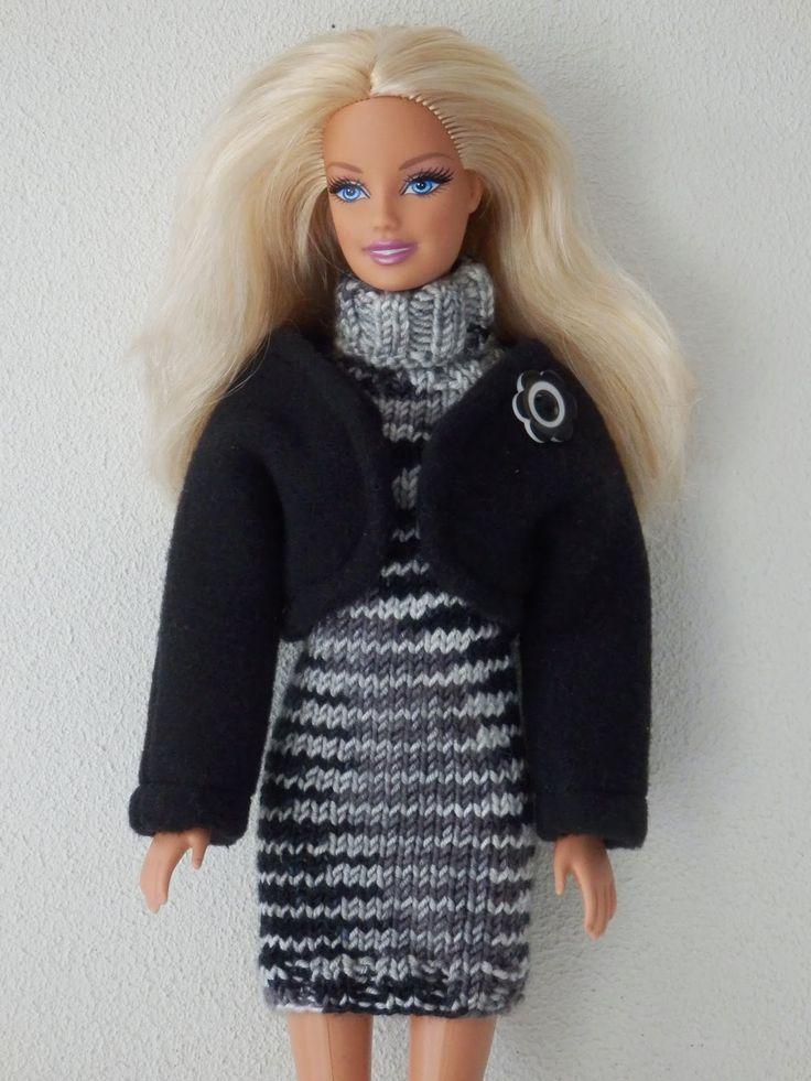 Coltrui-jurk met korte mouwen en vestje voor Barbie