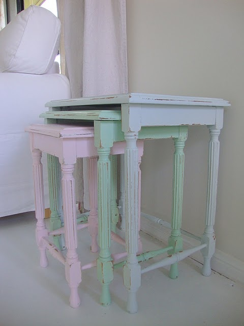 Nesting tables - would do a brighter hue but like the style of these ones