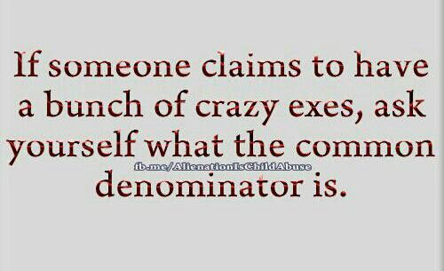 Narcissistic ex...he still says all the women he dates wind up being crazy, funny ????