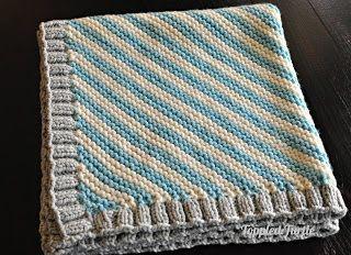 Toppled Turtle: Bias Striped Knit Baby Blanket - Free Pattern
