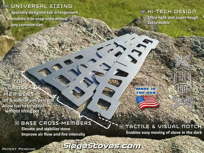 The Ultimate Portable Camping and Survival Stoves - NEW UNIVERSAL SIEGE STOVES!