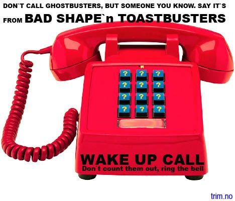 DON`T CALL GHOSTBUSTERS, CALL TOASTBUSTERS.