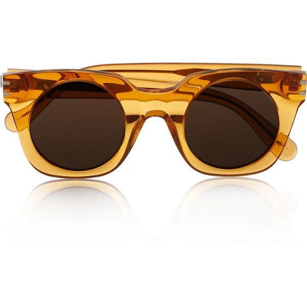 Square-frame acetate sunglasses ($165) ❤ liked on Polyvore featuring accessories, eyewear, sunglasses, glasses, acetate sunglasses, acetate glasses, marc jacobs glasses, square frame glasses and square frame sunglasses