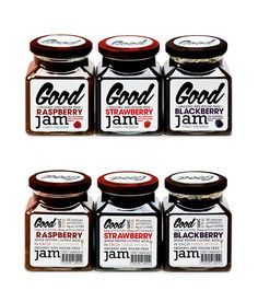 """Cool #typography on these jar #labels 